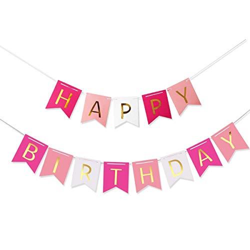 Pixnor Bunte Happy Birthday Girlande Banner Geburtstag Dekorationen