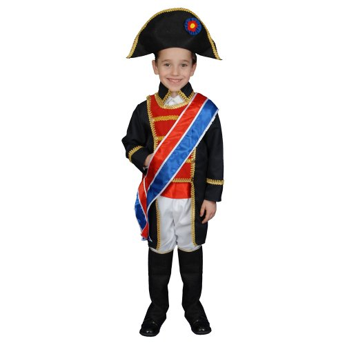 Dress up America niños Histórico Realistic LooRey Napoleon Disfraz Set