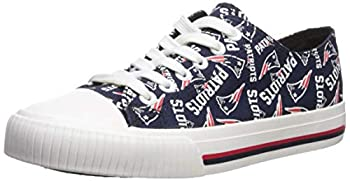 NFL Womens Low Top Repeat Print Canvas Shoe  New England Patriots Large
