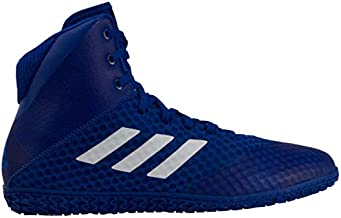 adidas Mat Wizard 4 Men's Wrestling Shoes, Royal/White, Size 5.5