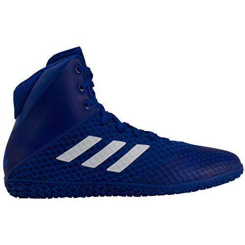 adidas Mat Wizard 4 Men's Wrestling Shoes, Royal/White, Size 16
