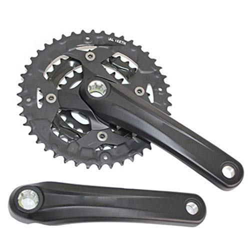 LOYFUN Bicicleta de Catalina, Juego de bielas de Velocidad única 170 mm 44-32-22T Rueda Dentada de Bicicleta de montaña de aleación de Aluminio for Bicicleta de Velocidad única