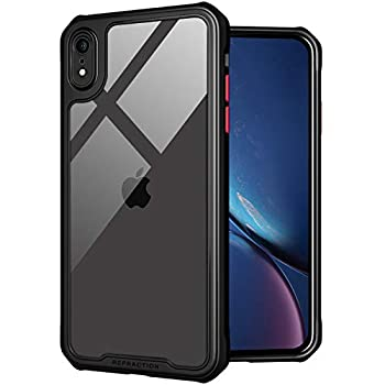 TENOC Phone Case for Apple iPhone XR Case Clear Back Cover Bumper Case Compatible for iPhone XR 6.1-Inch Black