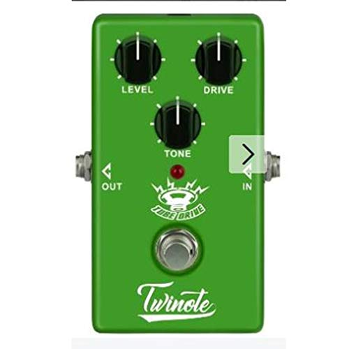 YLWL NUX OD-3 Overdrive Guitar Electric Effect Pedal True Bypass 3 Adjustable Knobs Aluminum Housing Pedal Guitar Accessories(green)
