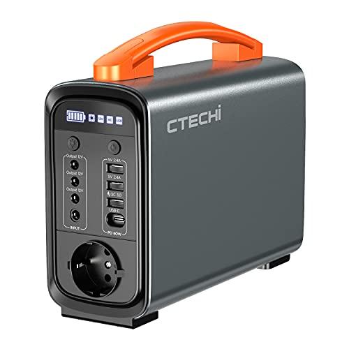 CTECHi Generador de batería portátil 320 Wh/100000 mAh Power Station con batería LiFePO4, completamente cargada en 3,5 horas, copia de seguridad de emergencia para camping