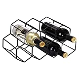 Wine Rack Countertop, 9 Bottle Honeycomb Modern Tabletop Wine Bottle Holder for Wine Storage, Freestanding...