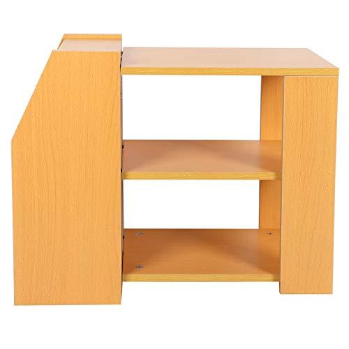 AYNEFY Tavolino con ripiano, tavolino Multifunzionale a 3 Strati di Grande capacità di stoccaggio Tavolino Moderno in Stile Semplice Log per Soggiorno Camera da Letto