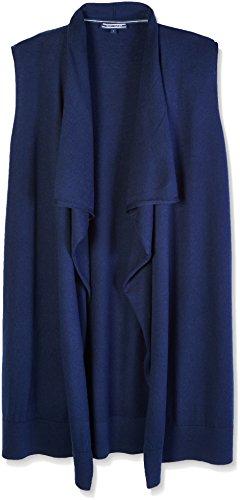 Tommy Hilfiger Damen NEW Havera Sleeveless Strickjacke, Blau (Navy Blazer 400), 38 (Herstellergröße: M)
