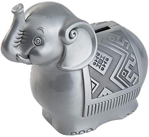 Regalos Guohailang Dinero dinero que los bancos Niñas colección de cumpleaños for niños decoración del hogar precioso elefante aleación de zinc hucha con monedas Caja de almacenamiento hace un regalo