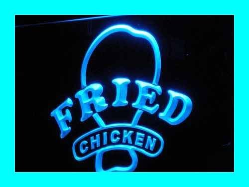 ADV PRO Enseigne Lumineuse i193-b Open Fried Chicken Fast Food Shop New Light Sign