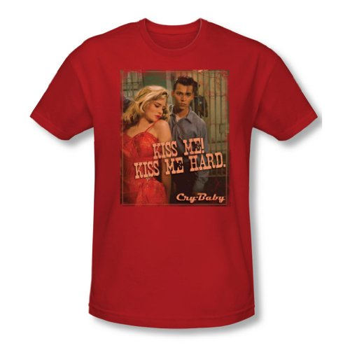 Cry Baby - Männer Kiss Me T-Shirt In Red, X-Large, Red