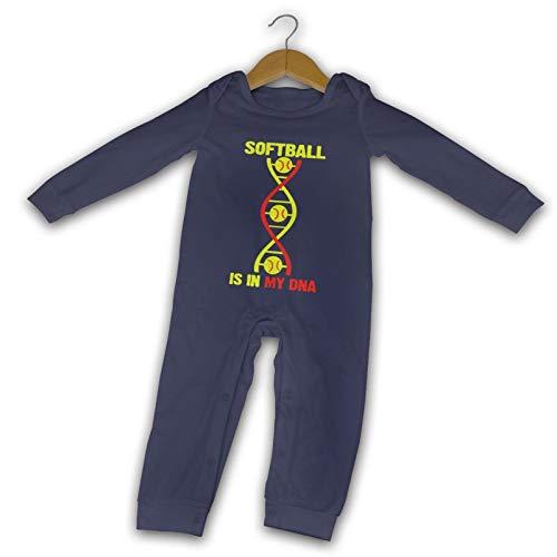 WushXiao Softball is in My DNA Long Comfort Baby Crawler schwarz Gr. 6 Monate, navy