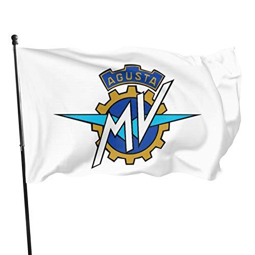 N/A Wetterfest Fahne,Drinnen Dekoration Flagge,Hanging Flag Dekor,Garten Banner,Italien Mv Agusta Logo Motorrad Premium Qualität Langlebige Flagge Dekor Für Häuser Und Gärten 150X90Cm