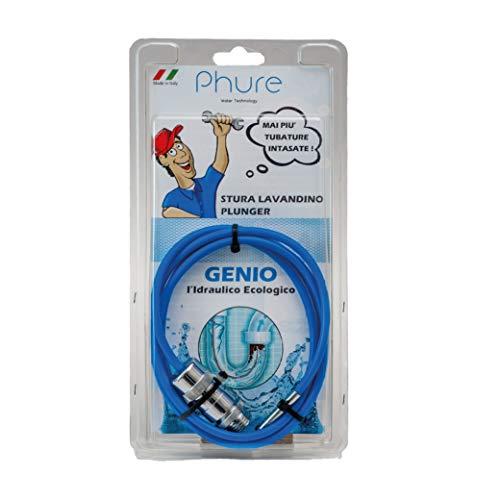 Phure - Genio el hidráulico ecológico, tubo desagüe lavabo a presión, desagüe desagüe, desagüe tubos, lavabo, ducha, bañera de WC (1,50 m).