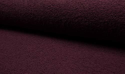 Fabrics-City VIOLETT-Bordeaux FROTTEE Stoff WALKFROTTEE SCHWER 2SEITIG Stoffe, 5059