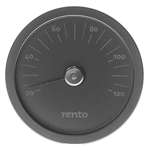 Tammer Tukku Rento - Sauna Thermometer - Aluminium - Schwarz - 15x15x2cm