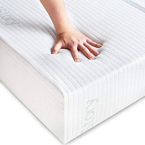 BedStory - Materasso in lattice, 90 x 190 x 18 cm, per migliorare il sonno e antiacaro, materasso singolo in schiuma, multistrato, con tessuto traspirante e ipoallergenico, certificato ISO 9001
