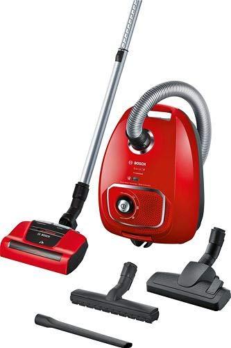 Bosch BGLS4PET2, Serie | 4, Aspirapolvere con Sacco, ProAnimal, Rosso, 600 W, 4 Litri, 75 decibeles