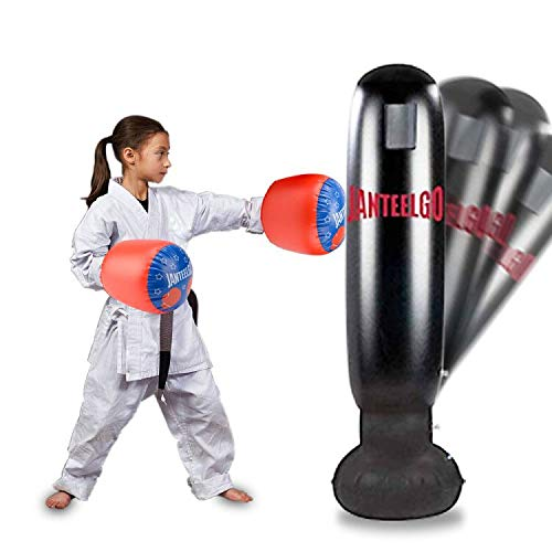 Saco de Boxeo, JanTeelGO Saco de Boxeo de Pie 160 cm con Gua