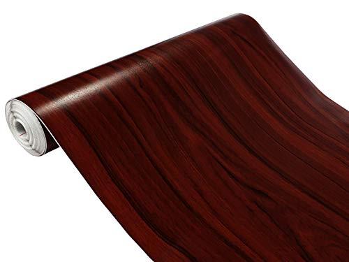 d-c-fix Folie Mahagoni Dunkel 90x100 cm Selbstklebende Möbelfolie Selbstklebefolie Meterware Holzoptik Klebefolie Deco Design