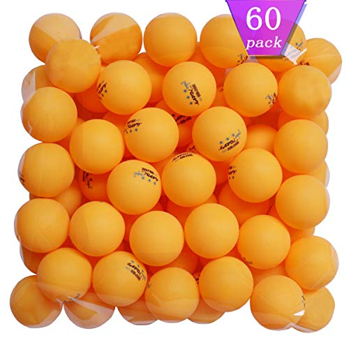 Purchase MAPOL 60 Counts 3-Star Orange Ping Pong Balls Advanced Practice Table Tennis Ball