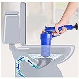 DUSIQ Pistola de desagüe de Aire Caliente de Alta presión, Potente, Manual, abridor de émbolo, Bomba limpiadora para inodoros, duchas con Pegatinas de 4 Lados, para baño