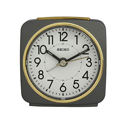 Seiko Alarm Clock(Qhe140Nn,Grey,9.1 Cmx8.8 Cmx4.1 cm