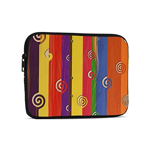 Abstract Texture Art Colourful Swirl 9.7' Tablets Sleeve Bags Polyester Protection Cover for Ipad Air 2 / Ipad Mini 7.9' Case Pouch