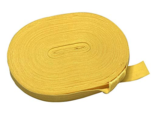 Bowtique Emilee 5/8' Elastic 10 yards Spool, Fold Over Elastic for Face Masks, Headbands or Hair Ties (Yellow)