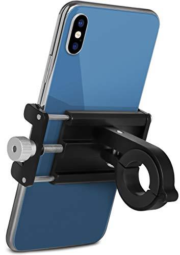 ONEFLOW - Soporte para teléfono móvil para bicicleta para todos los modelos Wiko - ultraligero soporte para smartphone para manillar compacto, estable y discreto, color negro