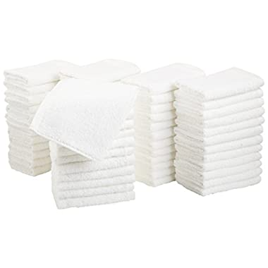 AmazonBasics Cotton Washcloths - 60-Pack