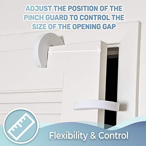 Tough Door Pinch Guards (6-Pack) Slick Design, Child Safety, Finger Pinch Protectors.