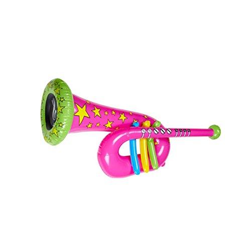 NET TOYS Tuba Gonflable Trompette Clown Rose Cirque Trombone Musique Instrument Gonflable Instrument...