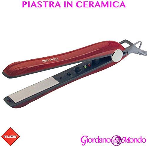 Plaque cheveux en céramique Muster Red Chili professionnel pour coiffeur