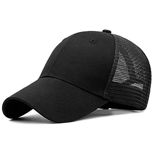 Yidarton Unisex Kappe Outdoor Baseball Cap Verstellbar Erwachsenen Mütze Casual Cool Mode Baseballmütze Hip Hop Flat Hüte (02Schwarz)
