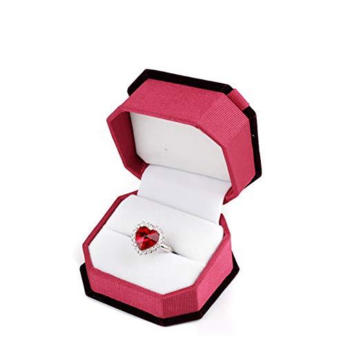 Preisvergleich Produktbild KUOZEN schmuckkästchen mädchen Halskette Geschenkbox Moderne Schmuckschatulle Schmuckablage Aufbewahrungsbox aus Samt Hübsche Aufbewahrungsboxen jujube, White Bottom