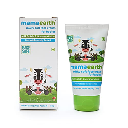 Mamaearth Milky Soft Natural Baby Face Cream for Babies 60mL