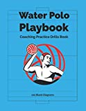 Water Polo Coaching Practice Drills Book 100 Blank Diagrams: Large Playbook 8.5' x 11' For Training Book Ideal For Coaches To Draw Plays & Tactics