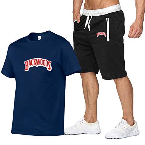 Hombres Y Mujeres Verano Backwoods Letra Impresa Camiseta Moda Deportes Al Aire Libre De Manga Corta Letras Creativas Ropa Casual Unisex XL