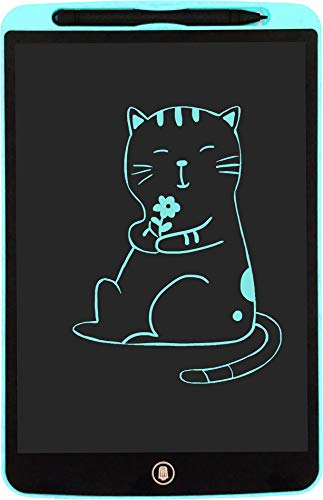 ORIMI 12 Pulgadas Tableta de Escritura LCD Tablet Escritura Pantalla Infantil Tableta Grafica Dibujo Pizarra para Niños (Linea monocromática, Azul Claro)