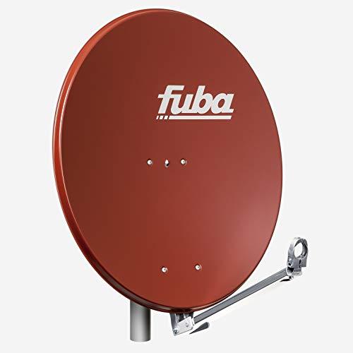 Fuba DAL 800 R Alu Sat-Schüssel ziegelrot 74cm x 84 cm - Sat-Antenne/Sat-Spiegel, klappbarer Tragarm mit Kabeldurchführung