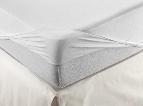 Velamen Colchón y sábana bajera ajustable, impermeable y transpirable, dos Productos en un, Blanco, Weiß, 200 x 200 cm