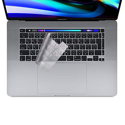 NUPO Tastaturschutz Kompatibel mit MacBook Pro 16'',Hauchdünner Tastatur Schutzfolie Cover Haut für MacBook Pro 16 Zoll Silikon Laptop Abdeckung Transparent,EU Layout, TPU Klar