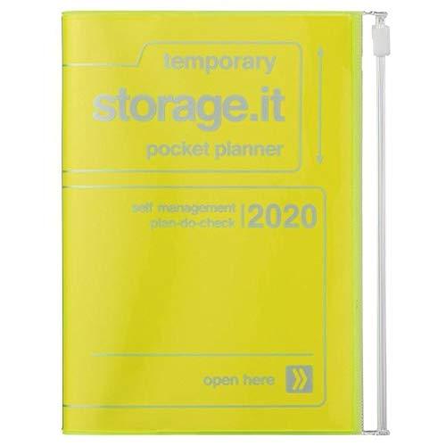 MARK'S 2020 Taschenkalender A6 vertikal, Storage.it Neon yellow
