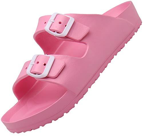 SAGUARO Sommer Garten Slippers Frauen Männer Stylische Komfortschuhe Ultraleicht Schlüpfen Pantolette Ergonomische Komfortabel Hausschuh Erwachsene Strand Zuhause Cool Slipper, Pink 40