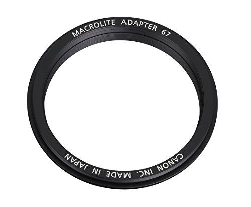 Canon Macro Ring Lite - Adaptador para Objetivo Canon EF 100 mm f/2.8L IS USM con Macro, Negro