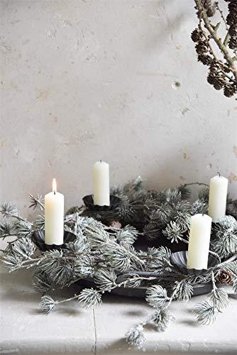 Jeanne d Suite Arc Living Adventkrans krans kandelaar kaarsenkrans kroonluchter brocante ijzer Ø 33 cm