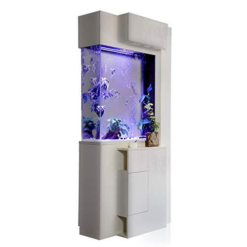 TWW Aquarium Trennwand Wohnzimmer Kleinen Boden Nach Hause Feng Shui Glück Aquarium Ökologie Kostenlose Wasserwechsel Faulen Aquarium,1.2 Meters