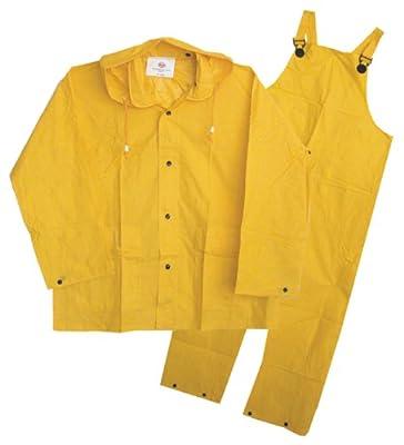3PF2000YM Boss 3PF2000YM 3-Piece Medium Yellow Unlined Rainsuit from Boss Gloves