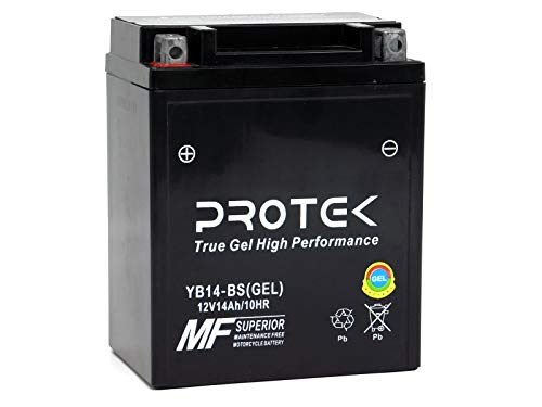 Protek YB14-A2 YB14A-A1 YB14A-A2 YB14-B2 YTX14AH YTX14AH-BS 12V 14Ah Sealed AGM Gel Type Battery for Yamaha YFM400FG Grizzly YFM350ER Big Bear YFM350U YFM250 YFM200